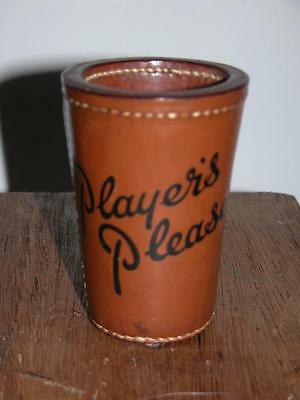 Vintage Leather Dice Shaker Pot Top O'hill