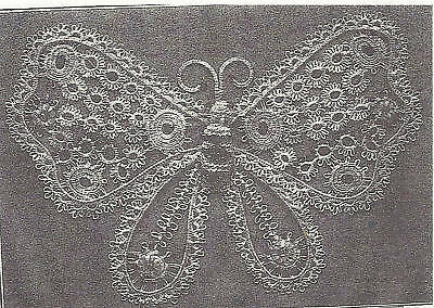 Butterfly In Beaded Tatting Pattern Beautiful