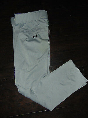 UNDER ARMOUR Loose Fit Men's GRAY BASEBALL PANTS Size SMALL