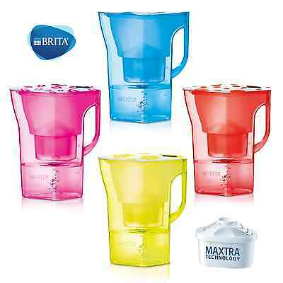 BRITA WATER Filter JUG Aqua Pitcher & MAXTRA Cartridge - Various Sizes & Colours