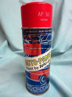 Vintage Red Dupli Color Spray Paint Can W/ Steel Cap
