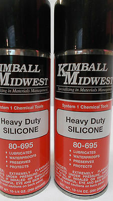 Lot Of 2 Kimball Midwest  Heavy Duty Silicone Lubricant