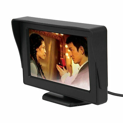 LCD Car Reverse Rearview Monitor Color Camera DVD VCR Remote Control 4.3' TFT T