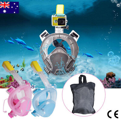 2017 Full Face Snorkeling Snorkel Mask Diving Goggle W/ Breather Pipe For GoPro