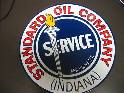 Standard Oil Gas Round Porcelain Advertising sign