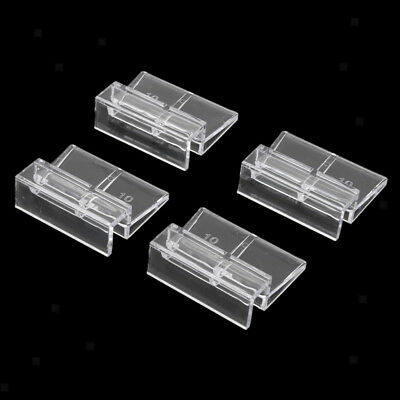 4x 10mm Aquarium Fish Tank Glass Cover Acrylic Clips Clamps Support Holders