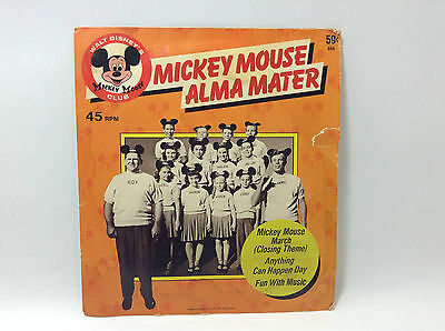 Mickey Mouse Club Record Alma Mater 45