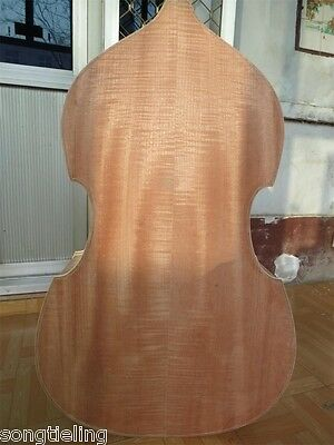 Hand carved SONG Brand white/unfinished 3/4 upright bass,Spurce top