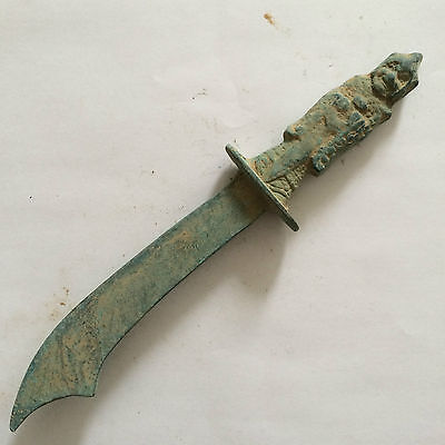 antique     Chinese ancient color bronze sword