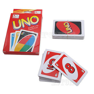 Standard 108 Playing Fun Cards Uno Card Game Family Children Friends Recreation