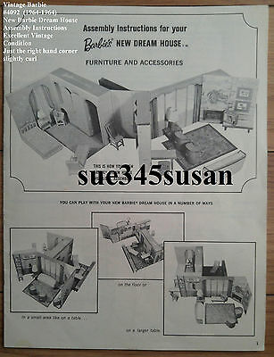Vintage Barbie Doll #4092 Barbie Dream House Assembly Instruction Booklet EVC