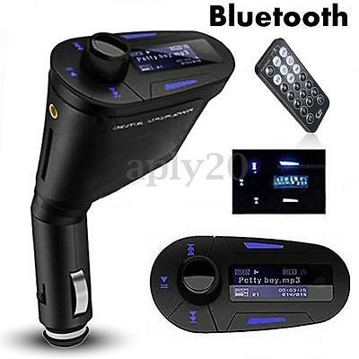 Car FM Transmitter Bluetooth Hands-free MP3 Player USB Charger For Android iOS