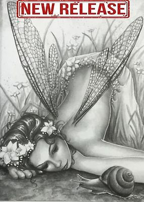Adult Coloring Book Grayscale Designs Fairy Art Anti Stress Therapy Relax & Fun