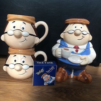 Tetley Tea Collectables The Gaffer Cups Biscuit Barrel