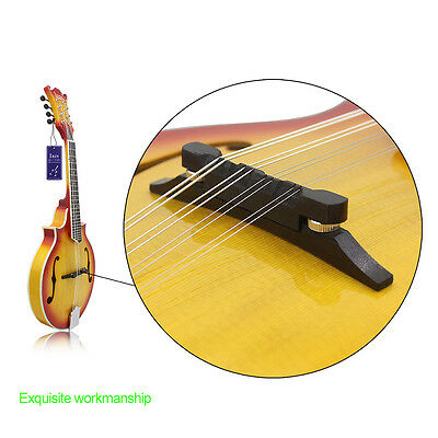 Useful High Quality Rosewood Compensated Mandolin Bridge Adjustable For Strings