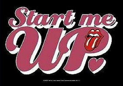 ROLLING STONES - Start Me Up - Flagge Posterfahne Textilposter -  Neu #235