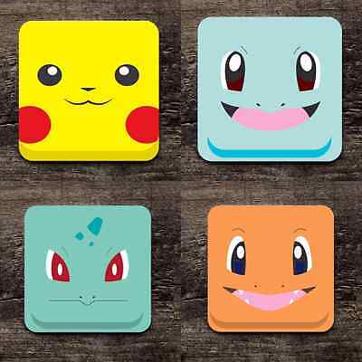 Pokemon Drink Coasters