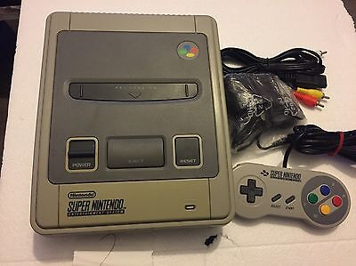 Super Nintendo SNES Console With Wires & Controller Bundle (2)
