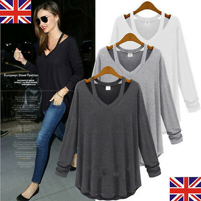 Women Long Sleeve T Shirts Ladies Top New Casual Loose Blouse Tee Tops PLUS SIZE
