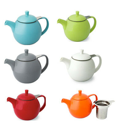 ForLife Curve Loose Leaf 24oz/710ml Ceramic Teapot with Stainless Steel Infuser
