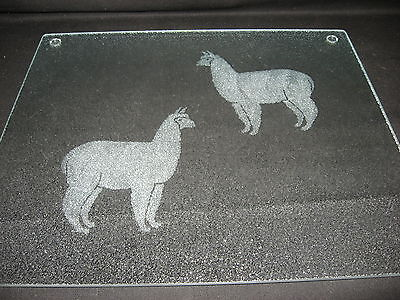 New Etched Alpaca Tempered Glass Cutting Board