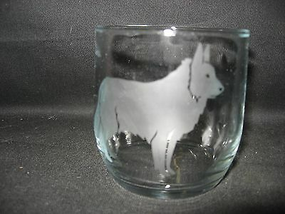New Etched Belgian Tervuren Old-Fashioned Rocks Glass Tumbler