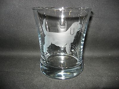 New Etched Otterhound Old-Fashioned Rocks Glass Tumbler