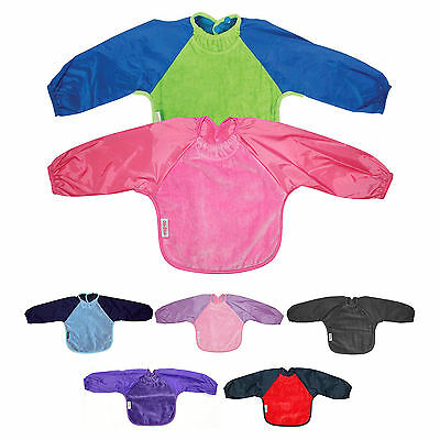 Silly Billyz Towel Small Long Sleeve Bib | Baby & Toddler | Various Colours