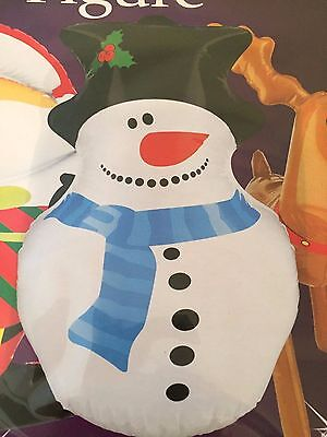 CHRISTMAS INFLATABLE SNOWMAN, Novelty Xmas Decoration 46cms high (18 inches) NEW