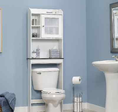Over The Toilet Space Saver Storage Shelf Etagere Cabinet Bathroom ...