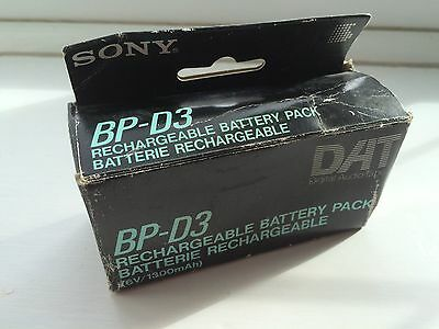 Original Sony BP-D3 rechargeable battery for DAT TCD-D3