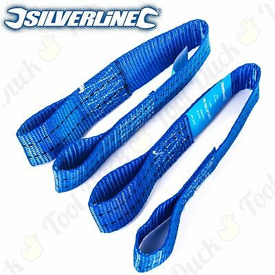 4 x HEAVY DUTY SILVERLINE 450mm TIE DOWN SECURING LOOP Ratchet Strap Lashing Set