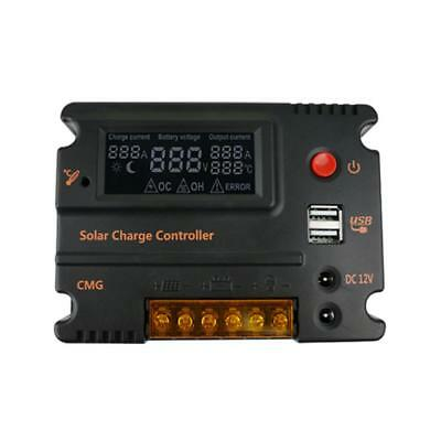 12V/24V 20A Solar Panel Charge Controller Battery Charger Regulator & USB