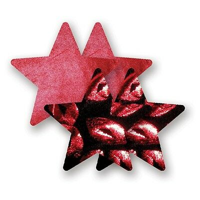 Bristols 6 Nippies - Print Red Hot Lips Star Nippel Cover Aufkleber |58