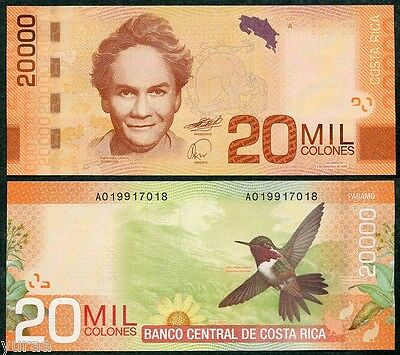 Costa Rica - 20000 Colones 2009 (2012) UNC, Pick 278