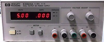 HP E3620A 50W Dual Output Power Supply, Two 25V, 1A DC Power Supply Tested Pull