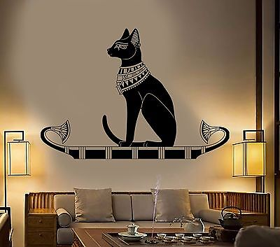 Vinyl Wall Decal Ancient Egypt Egyptian Cat God Bastet Stickers (384ig)