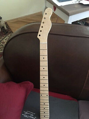 Telecaster Neck Hals AAA-flamed one piece maple, chunky custom shaped, satin