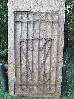 Antique Victorian Iron Gate Window Garden Fence Architectural Salvage Door FFF