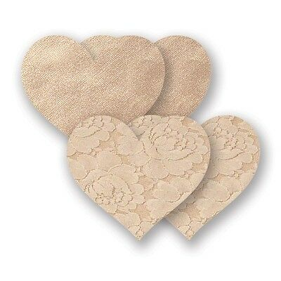 Bristols 6 Nippies - Basic Creme Heart Nippel Cover Aufkleber |58