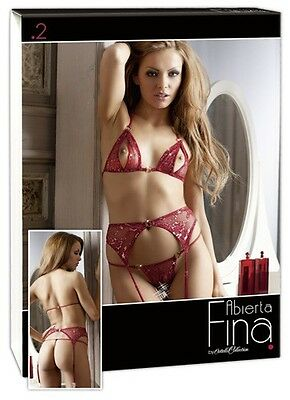 Abierta Fina BH Set rot/gold S Women |55
