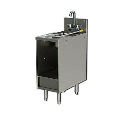 """Perlick 7057-3 12"""" Chemical Storage Cabinet With Removable Dump Box"""