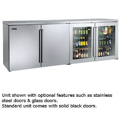 """Perlick BBR96 96"""" Four-Section Refrigerated Back Bar Cabinet"""