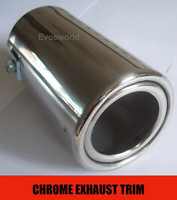 Chrome Exhaust Tailpipe Tip Trim End End Muffler Finisher Cover Sport *