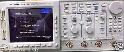 Tektronix TDS754C Color Oscilloscope, 500 MHz, 4 Channel 2 GS/s Optioned Tested