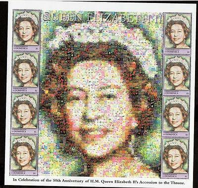 Dominica 2001 The 50th Anniversary of Queen Elizabeth II M/S