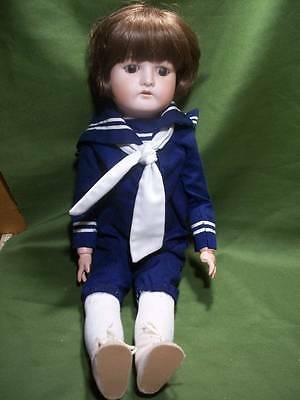 "Antique German Boy Doll ~✿~ 1912 Made In Germany 23"" Sailor Suit Ball Jointed"
