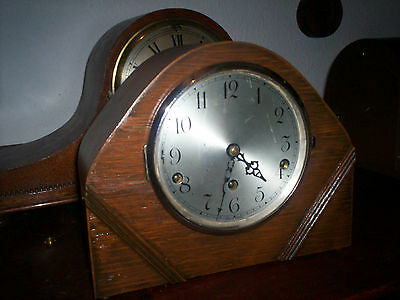 Art Deco Wooden Mantel Clock with Westminster chime
