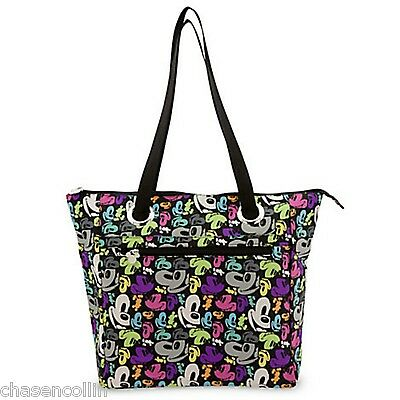 Mickey Mouse Pop Art Tote Bag Purse Faces Disney World Theme Parks NEW NWT