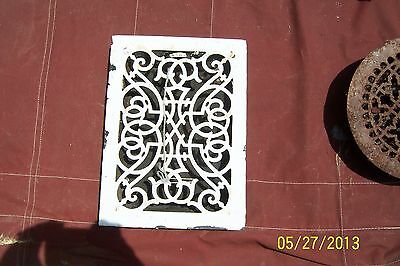 Vintage Floor / Wall Heat Register Metal Vent  Antique Grate with Louvers